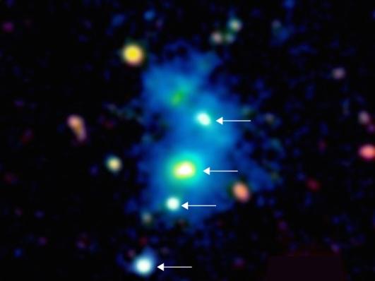 4 quasars zoom