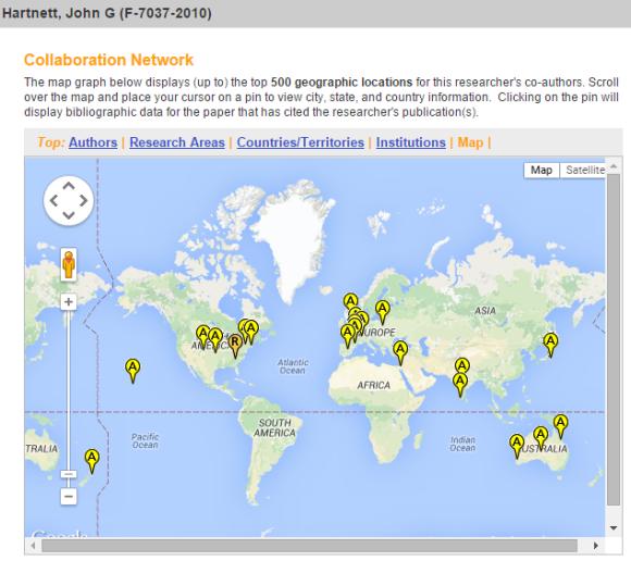 Collaboration map
