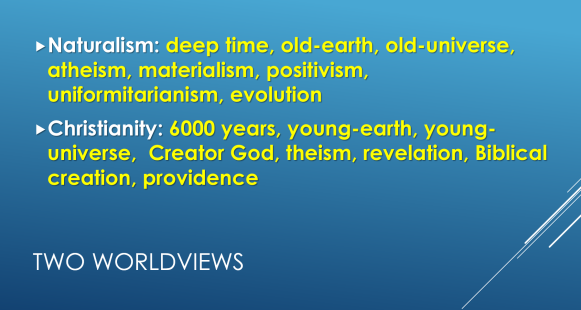 Two worldviews