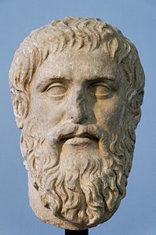 Plato: copy of portrait bust by Silanion. Credit: Wikipedia