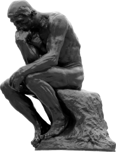 The-Thinker-Auguste-Rodin-Grayscale