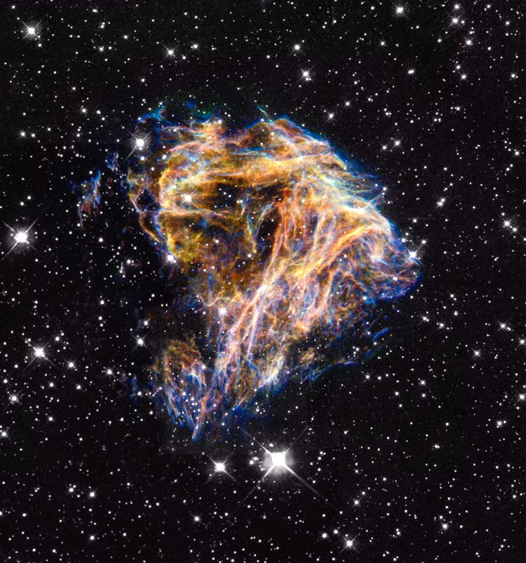Hubble image of supernova remnant N 49 in the Large Magellanic Cloud. Credit: NASA and The Hubble Heritage Team (STScI/AURA)
