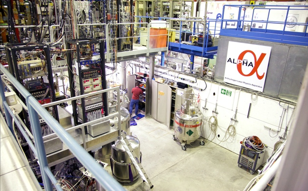 The ALPHA antimatter experiment at CERN has measured an energy transition in anti-hydrogen.