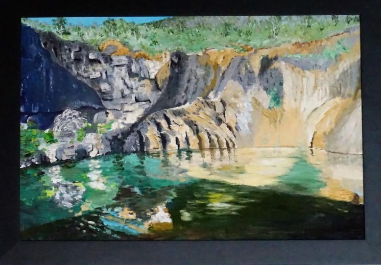 Hartnett John - The old quarry - 90cmWx60cmHx1cmD