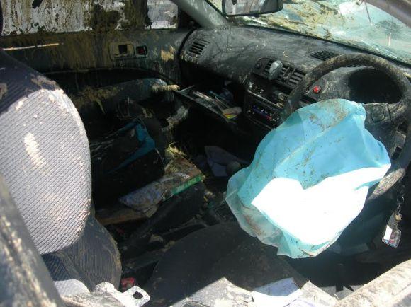 Ryan car inside